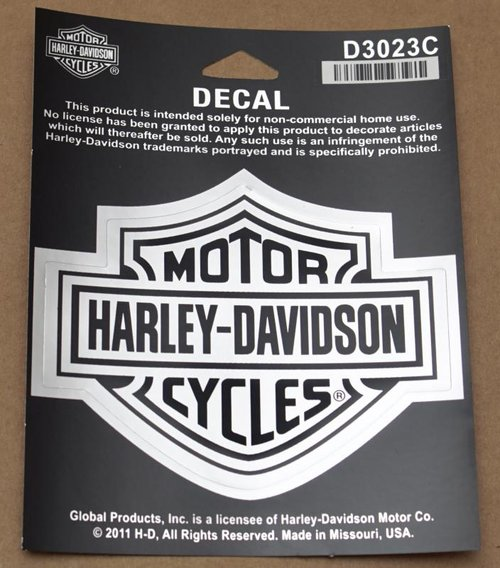 harley davidson motorcycle bike 2 decal sticker bar shield chrome pink heart hog